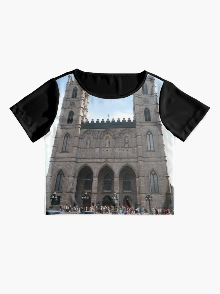 Alternate view of Notre-Dame Basilica, #NotreDameBasilica, #NotreDame, #Basilica, Montreal, #Montreal #City, #MontrealCity, #Canada, #buildings, #streets, #places, #tourists, #architecture, #monuments, #Cathedral Chiffon Top