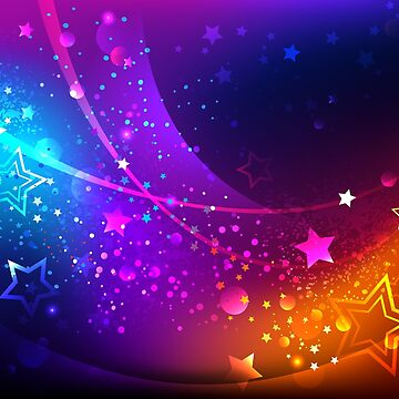 Bright abstract background with stars by Blackmoon9