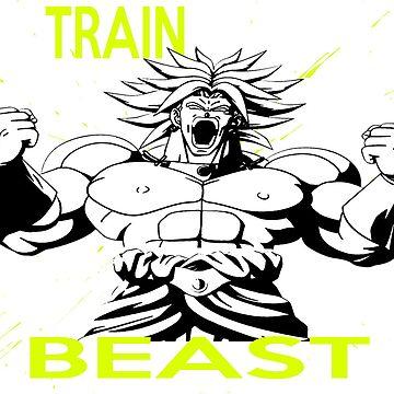 "Broly "" Train Like A Beast"" by mugenjyaj"