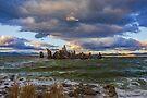Mono Lake Shipwreck Rock Fall Sunset by photosbyflood