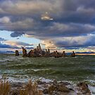 Mono Lake Shipwreck Rock Fall Sunset by photosbyflood