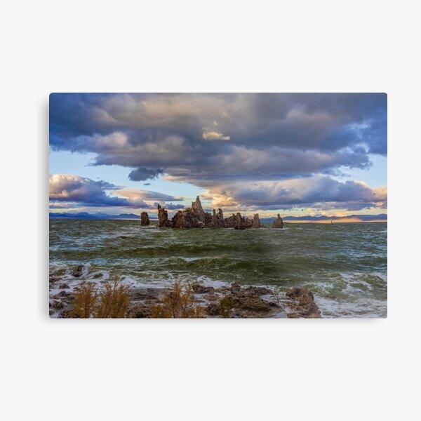 Mono Lake Shipwreck Rock Fall Sunset Metal Print