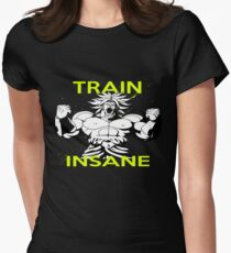 "Broly ""Train Insane"" Tailliertes T-Shirt für Frauen"
