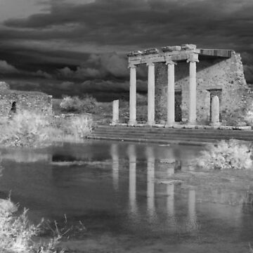 Storm clouds over ancient greek ruins by camerawithlegs