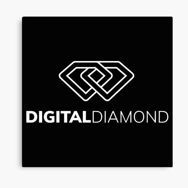 Digital Diamond logo Canvas Print