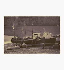 Postcard Boats Photographic Print