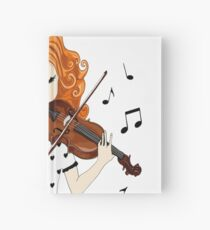 Clothes and accessories for lovers of Violin and Music Hardcover Journal