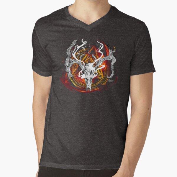 Deer God V-Neck T-Shirt