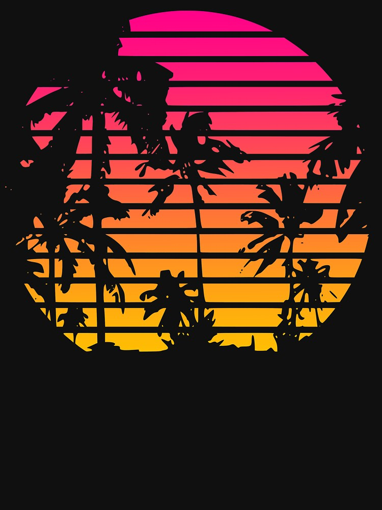 Cool 80s Style Tropical Sunset by idaspark