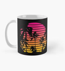 Cool 80s Style Tropical Sunset Classic Mug