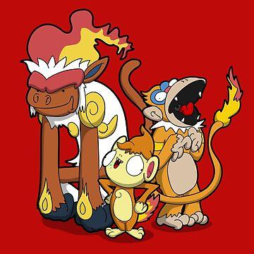 Funky Fire Monkeys by Aniforce