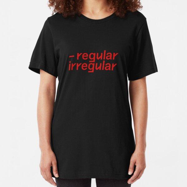 nct regular irregular font  Slim Fit T-Shirt