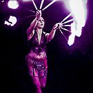 Fire Fans Belly Dancer by TribalFire