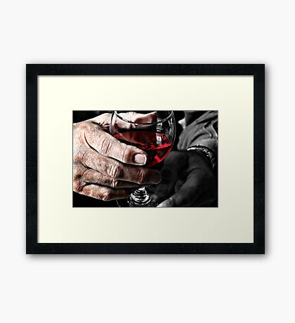 The Glass, Tipped Framed Print