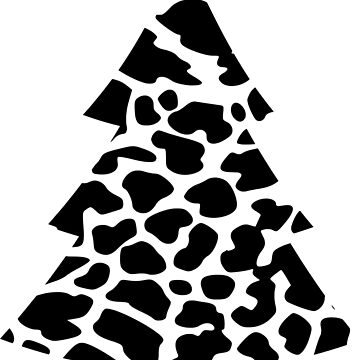 cow stain pattern christmas tree graphic cow spot by xsylx