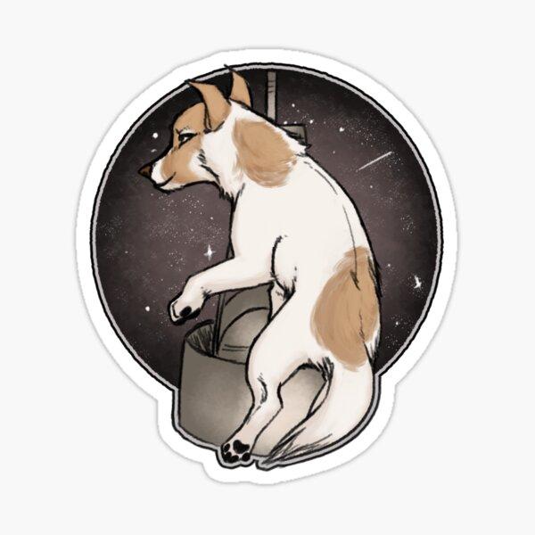 Laika rusia punta pegatinas 3er set perros pegatinas perros motivo perro diapositiva