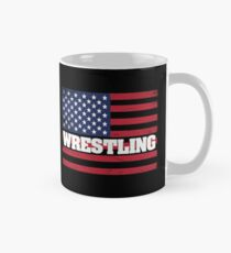 Wrestling USA Flag Design - Wrestling  Mug