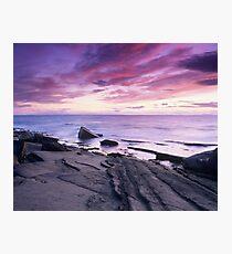 Crimson Sunset - Hopeman, Moray Photographic Print