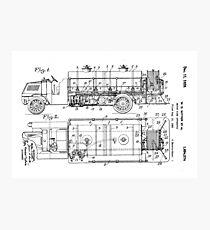 Motor Fire Apparatus 1925 - light Photographic Print