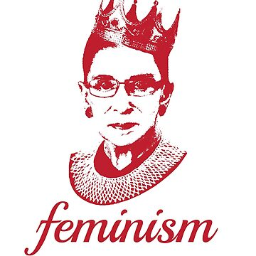 Pink Ruth Bader Ginsburg - Political Feminism by RaveRebel