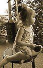 Profile Of A  Little Girl In Sepia von Evita