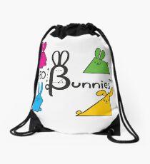 GeoBunnies Logo with Bunnies Drawstring Bag