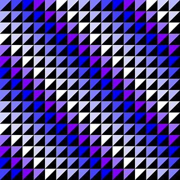 Triangle Repeating Blue and White Pattern by MarkUK97