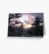 Mount Baldy Sunset and Snow Greeting Card
