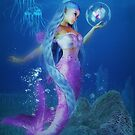 Mermaid with butterfly by Andrea Tiettje
