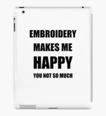 Embroidery Lover Fan Funny Gift Idea Hobby iPad Case/Skin