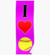 I Herzliebe Fastpitch Softball Poster