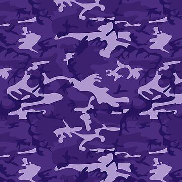 Playful Purple Camo Pattern by BuzzEdition