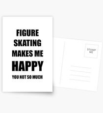 Figure Skating Lover Fan Funny Gift Idea Hobby Postkarten