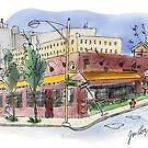 Urban Sketch - Baltimore, MD by Judy Boyle