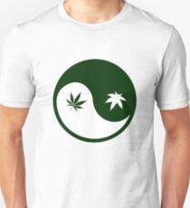 Weed YinYang Unisex T-Shirt