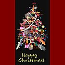 Koi Tree CHRISTMAS CARD  01 by Dayonda
