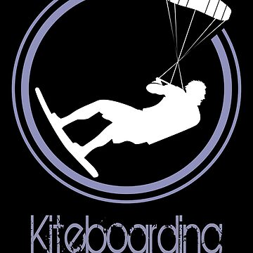 Kiteboarder silhouette for a kiteboarding fan club by MegaSitioDesign