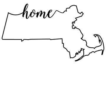 Massachusetts Home State Outline Design by Andrewkgolf