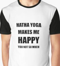 Hatha Yoga Lover Fan Funny Gift Idea Hobby Graphic T-Shirt