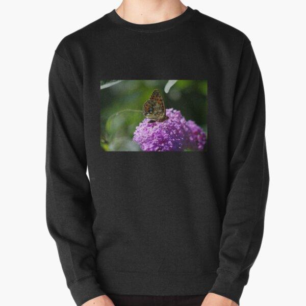 Dark Green Fritillary Butterfly Pullover Sweatshirt