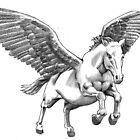 Pegasus tattoo design by Alleycatsgarden