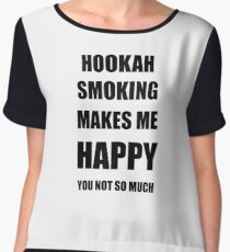 Hookah Smoking Lover Fan Funny Gift Idea Hobby Chiffon Top