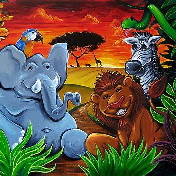 Jungle Mural by flylanddesigns