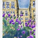 Spring in the City - Urban Sketch by Judy Boyle