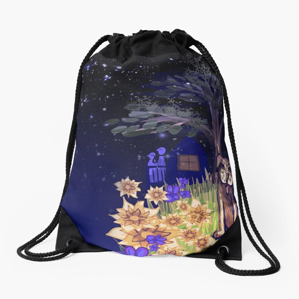 Star Gazing in the Mist Drawstring Bag