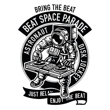 Space Astronaut Disk Jockey by Skullz23