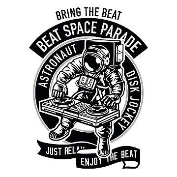 Space Astronaut Disk Jockey by Skullz23