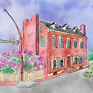 Urban Sketch of Historic Home by Judy Boyle