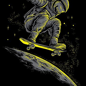 Space Surfer astronaut galxy outer space skateboard by WWB2017