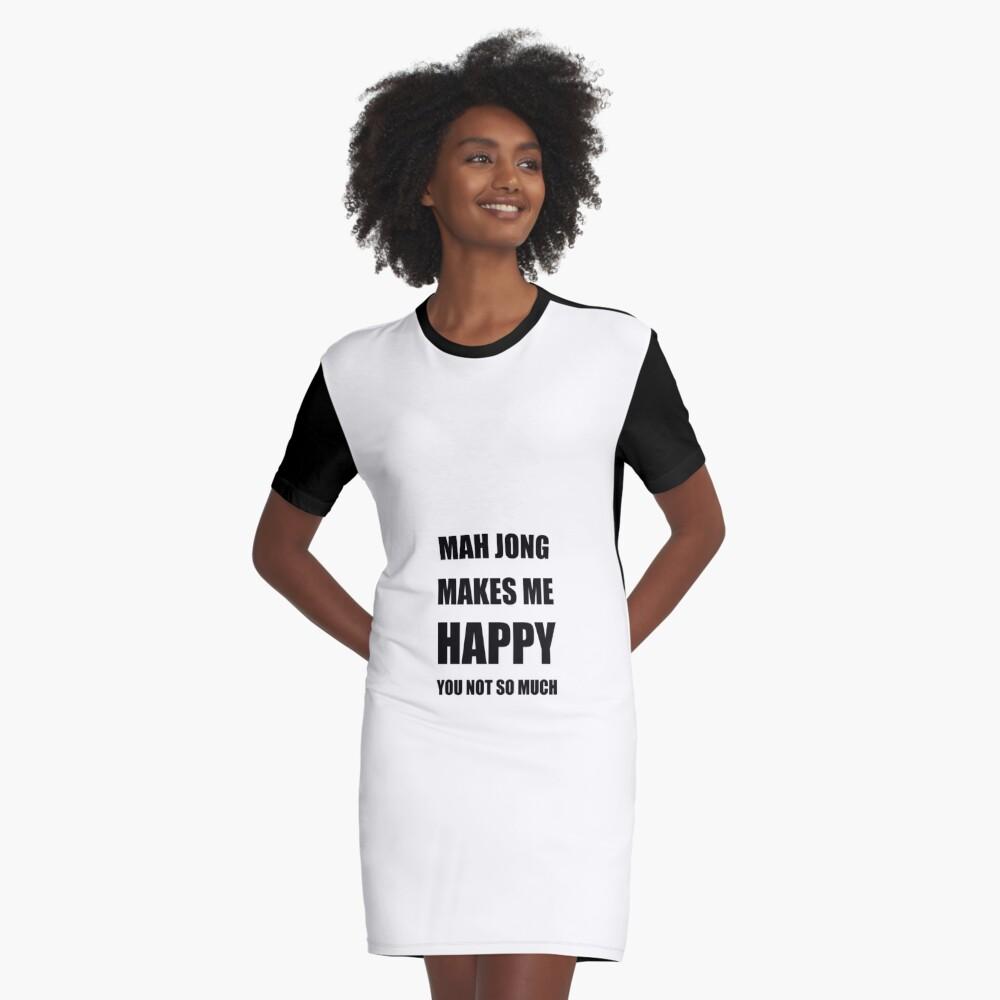 Mah Jong Lover Fan Funny Gift Idea Hobby Graphic T-Shirt Dress